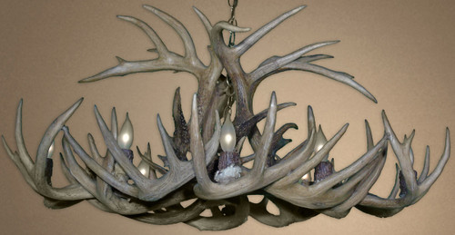Real White-tail Deer Chandelier