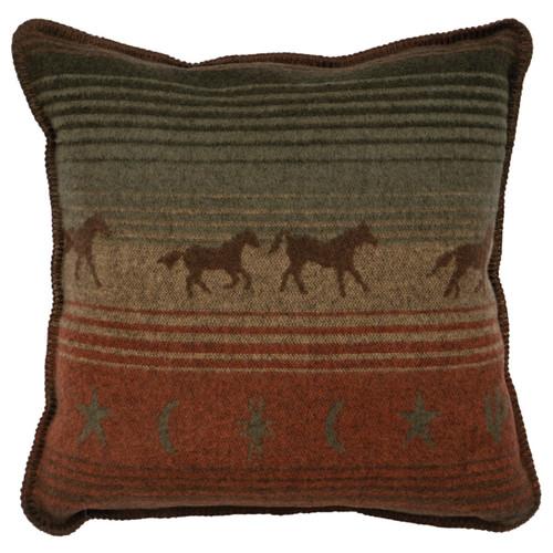 Mustang Canyon II Horse Pillow