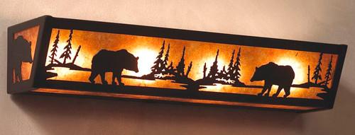 Black Bear Vanity Light