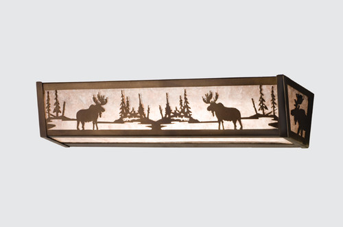 Northwoods Moose Vanity Light