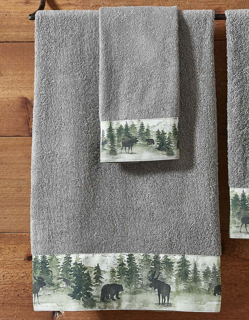 Mystic Forest Moose & Bear Bath Towel