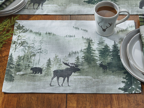 Mystic Forest Moose & Bear Placemat