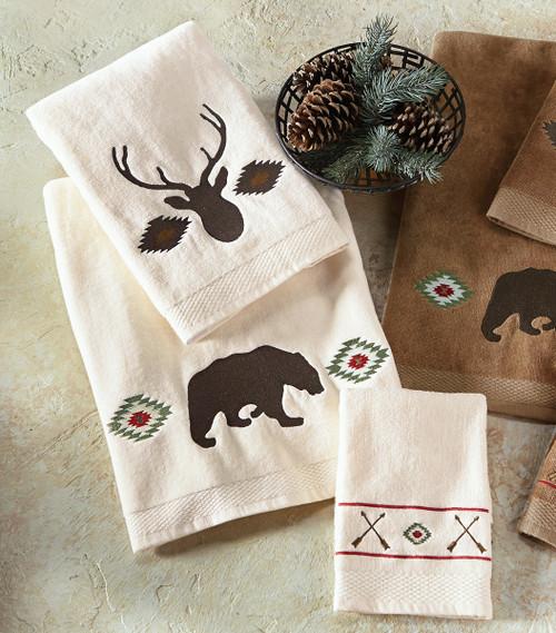 Native Wildlife Towel Set - Cream - OVERSTOCK