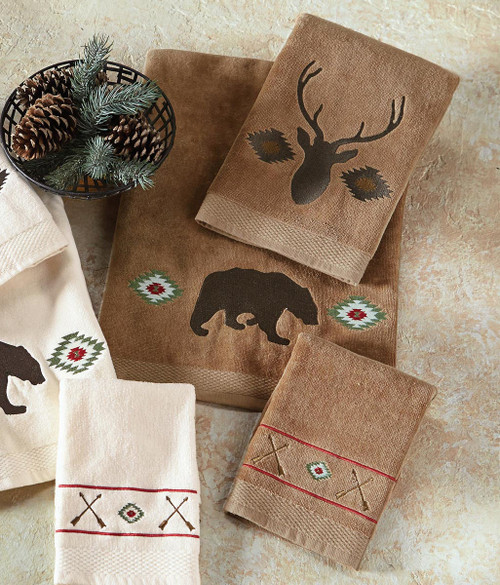 Native Wildlife Towel Set - Mocha