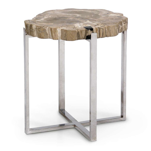 Natural Artistry Accent Table with Stainless Steel Legs - Large