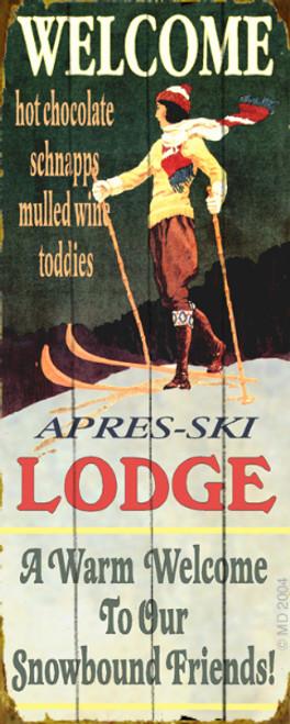 Ski Lodge Sign 14 x 36