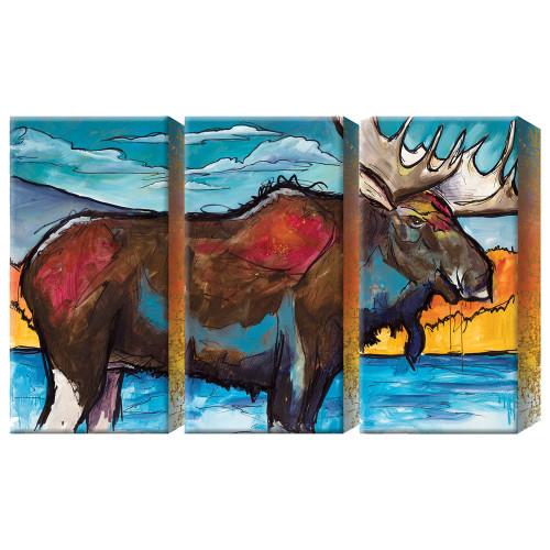 Northern Moose Box Wall Art - Set of 3