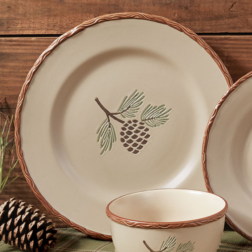 Northern Pinecone Dinner Plate