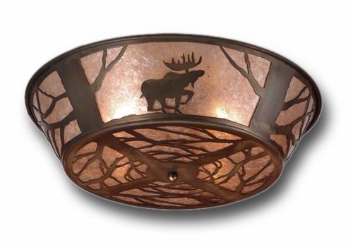 North Woods Moose Flush Mount Light