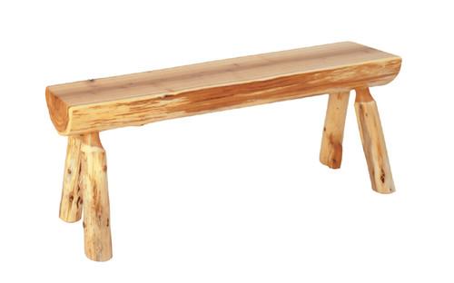 Log Cedar Bench