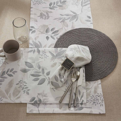 Misty Leaves Table Linens