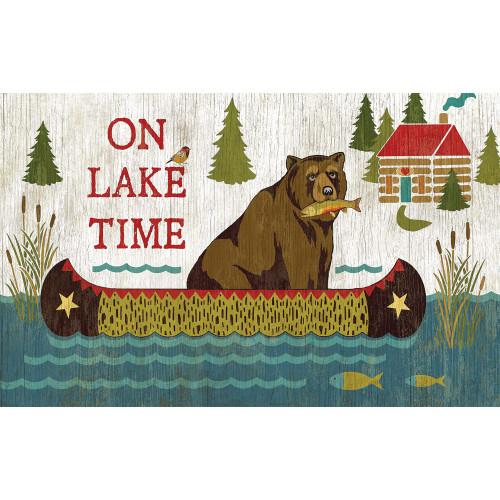 On Lake Time Wall Art - 15 x 26