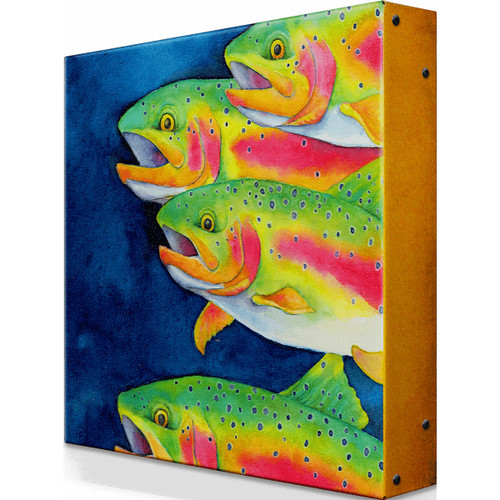 On the Move Trout Metal Wall Art