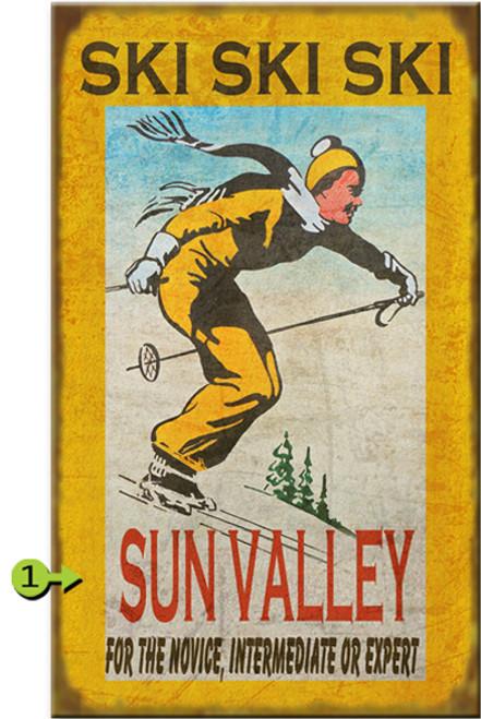 Ski Ski Ski Personalized Signs