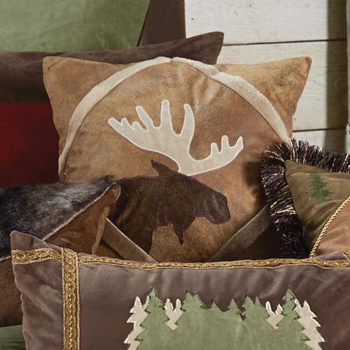 Shearling Diamond Moose Pillow