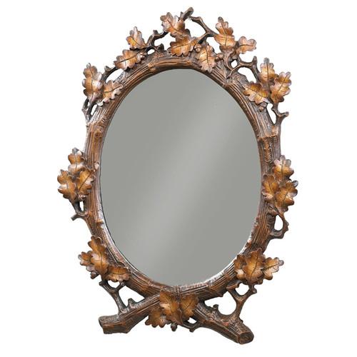 Oval Oak Leaf Wall Mirror