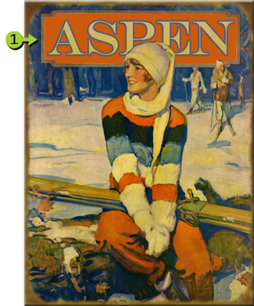 Vintage Ski Girl Personalized Signs