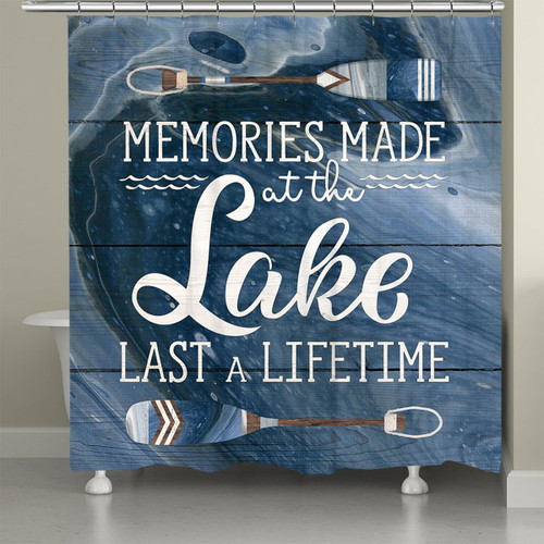 Paddle Memories Shower Curtain