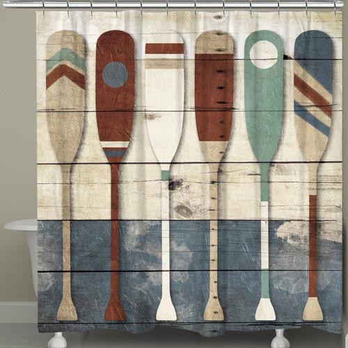 Paddles Shower Curtain