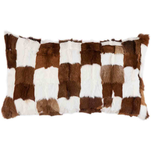 Patched Fur Pillow