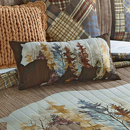 Peaceful Forest Bear Pillow