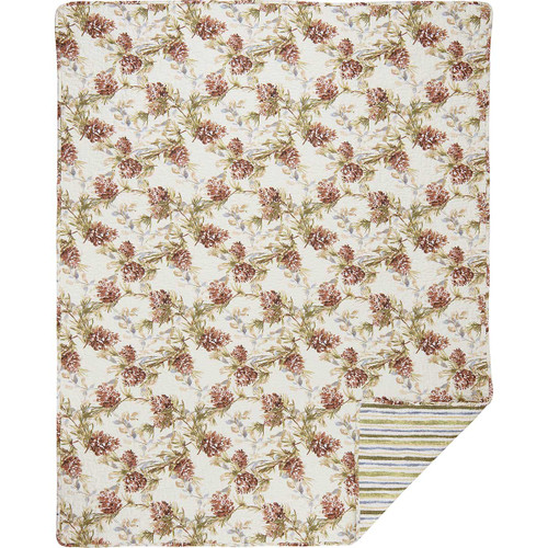 Peaceful Pinecones Quilted Throw
