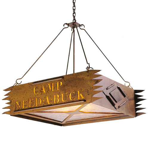 Personalized Camp Chandelier