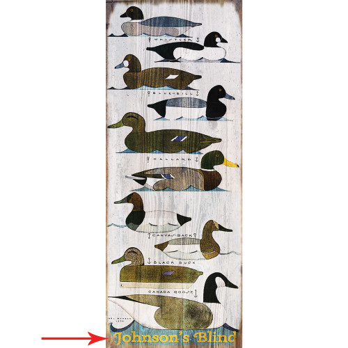Personalized Duck Chart Sign