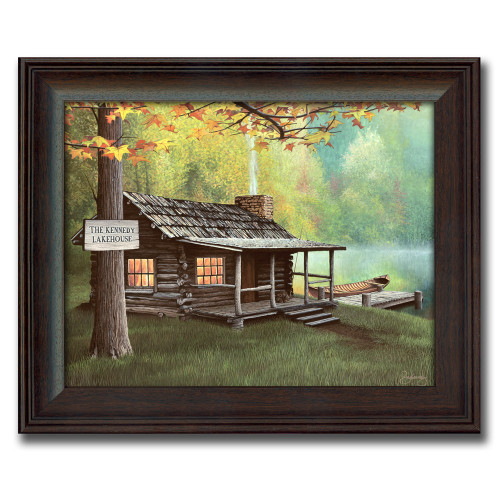 Personalized Lake Cabin Canvas Print