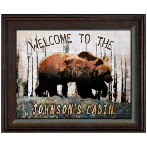 Personalized Mountain Bear Welcome Print