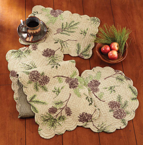Pinecone Valley Table Linens