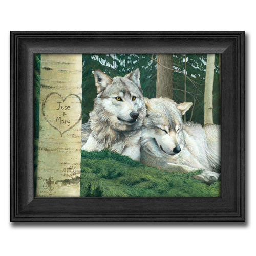 Personalized Wolves Print