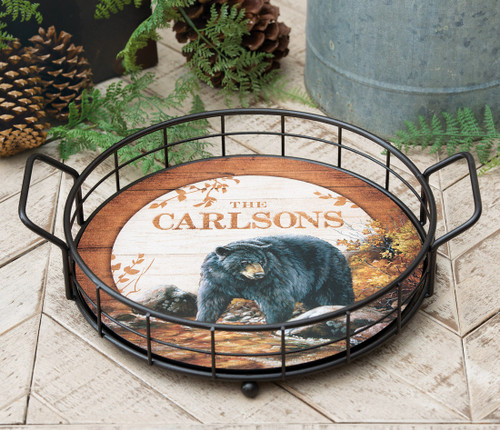 Personalized Wood & Wire Basket