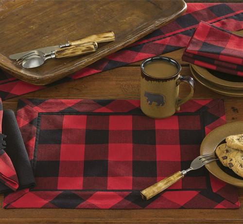 Red Buffalo Check Table Linens