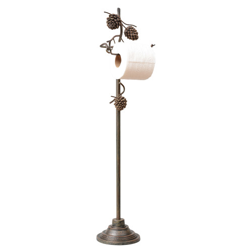 Pine Bough Toilet Paper Stand