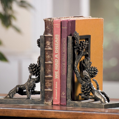 Pine Branch Bookends - Set of 2 - OUT OF STOCK UNTIL 11/23/2021