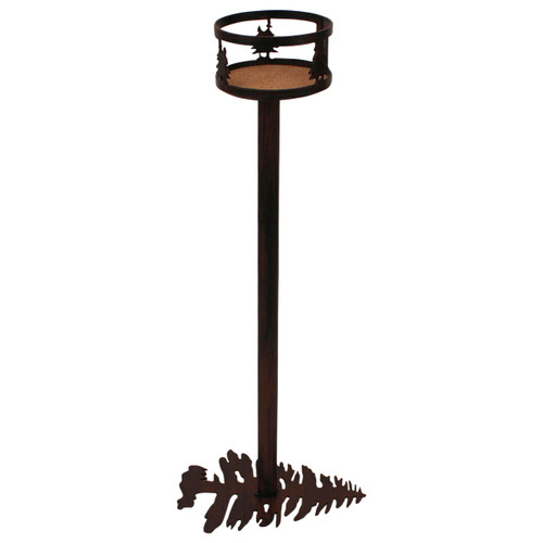 Iron Double Tree Band Drink Holder with Pine Tree Base