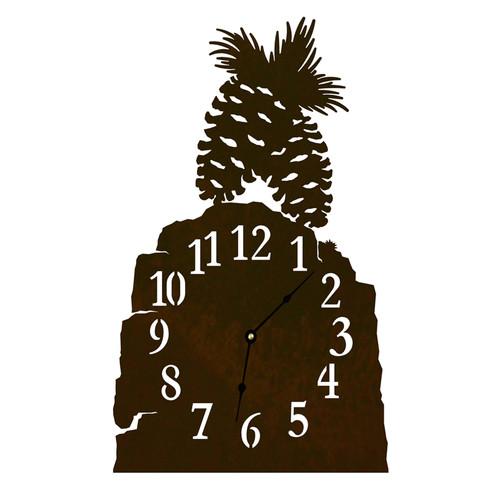 Pine Cone Table Clock