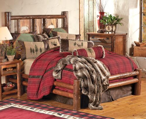 Pine Crest Bear Log Bed - Full