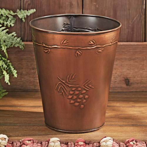Pine Crest Metal Waste Basket