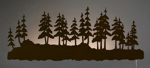 Pine Forest Back Lit Wall Art