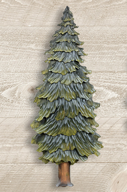 Pine Forest Carved Wood Wall Art - Medium