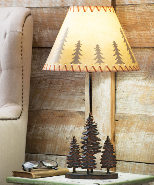 Pine Forest Metal Table Lamp