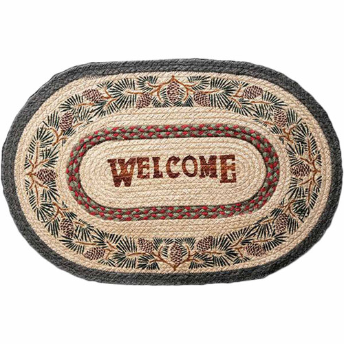 Pine Forest Welcome Rug