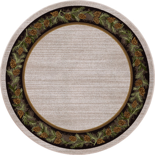 Pine Grove Natural Rug - 8 Ft. Round