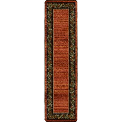 Pine Grove Rust Rug - 2 x 8