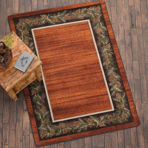 Pine Grove Rust Rug - 5 x 8