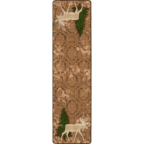 Pine Gulch Moose Rug - 2 x 8