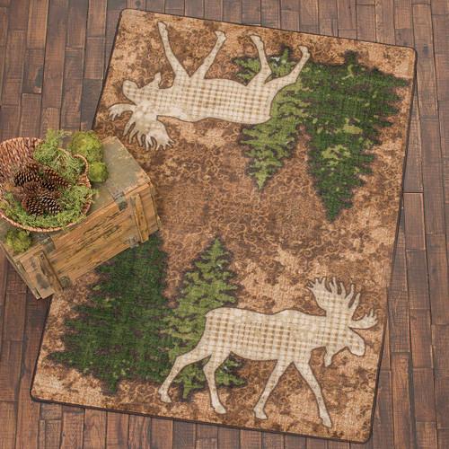 Pine Gulch Moose Rug - 5 x 8