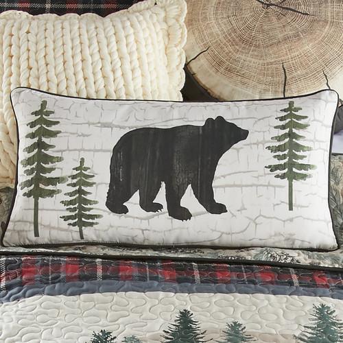 Pine Ridge Bears Rectangle Pillow - BACKORDERED UNTIL 1/19/2022